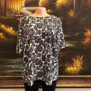 Lane Bryant Floral Print Blouse Size 14/16